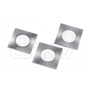 SET OF 3 SQUARE BUILT IN LED LAMPS MARBELLA, 3X1,5W, 19 DIODE, 230VAC, 6400K