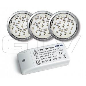 LED LIGHT-BULBS SET LUGO 319, 19 DIODE, SATEEN 3X1,14W, 3000K