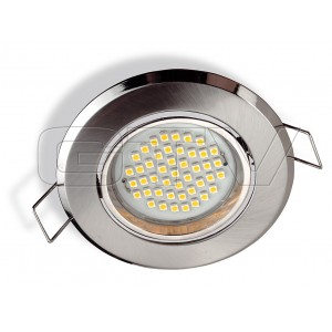 BUILT IN LED LAMP SANTIAGO, 45 DIODE, 3W, 230V, WARM WHITE, STAINLESS STEEL
