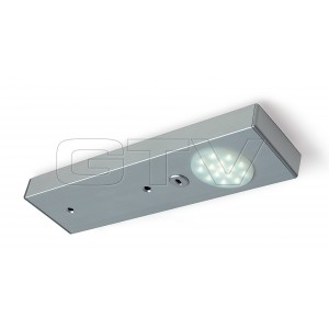 LED LAMP RONDA WITH NONE CONTACTING SWITCH, 218 MM, 1X15 DIODES,COLD WHITE, DC12V, ALUMINUM