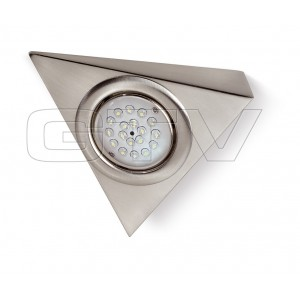 LED LAMP WITH SWITCH, STAINLESS STEEL 12V, 1W, 18 DIODE,COLD WHITE