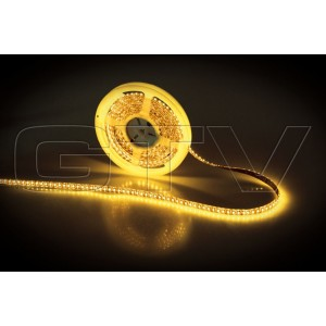LED STRIP SMD 3528, 5 M, 600 LED LAMPU, DC12V, MAKS. LOAD 1 M 8W, YELLOW, WATER RESISTANT